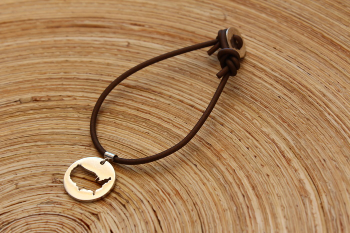Single Hammered Button Bracelet