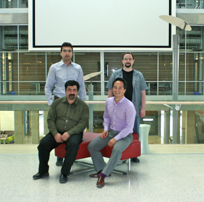 Our team (Clockwise from top/left): Javad Sadeghi PhD, Mark Sherlock BSc, Oliver Leung BEc, Dr. Faramarz Samavati