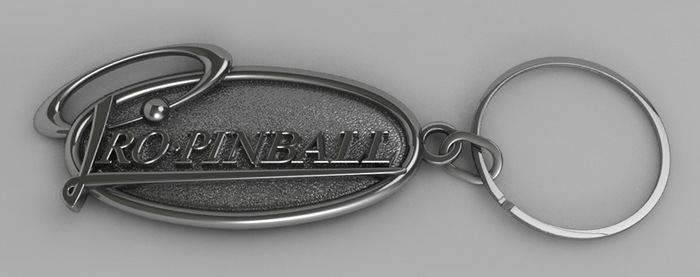Pro Pinball Key Ring (Artist's impression)