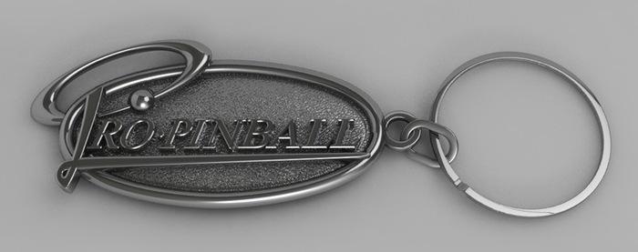 Pro Pinball Key Ring (Artist's impression)