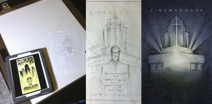 "Initial ""Metropolis"" inspired Cover Sketch and Comp"
