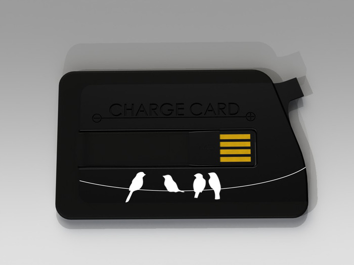 Birds-on-Wire Micro USB ChargeCard
