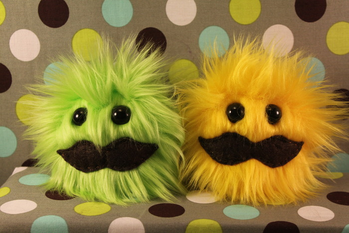 By demand: Green & Yellow puffs, and mustaches!