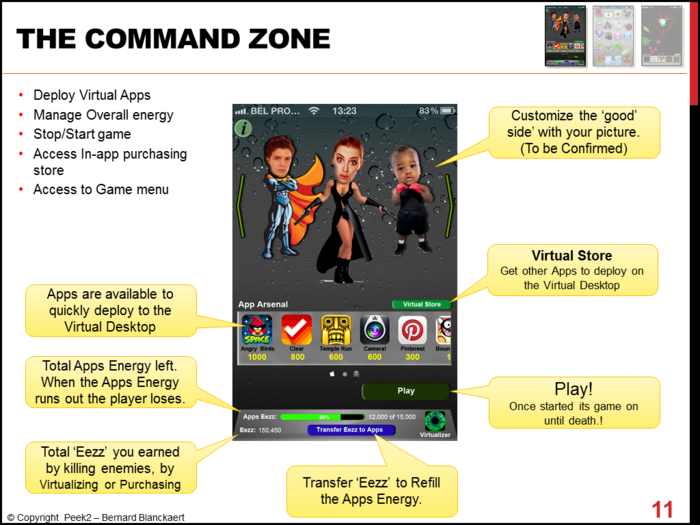 An overview of the Command zone with customizable heroes.