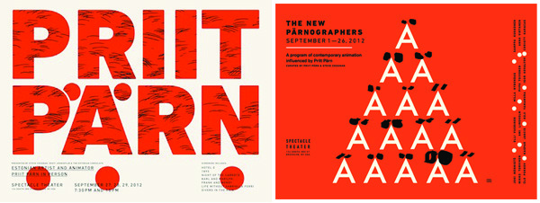 Poster designs PRIIT PÄRN (LEFT) & THE NEW PÄRNOGRAPHERS (RIGHT)