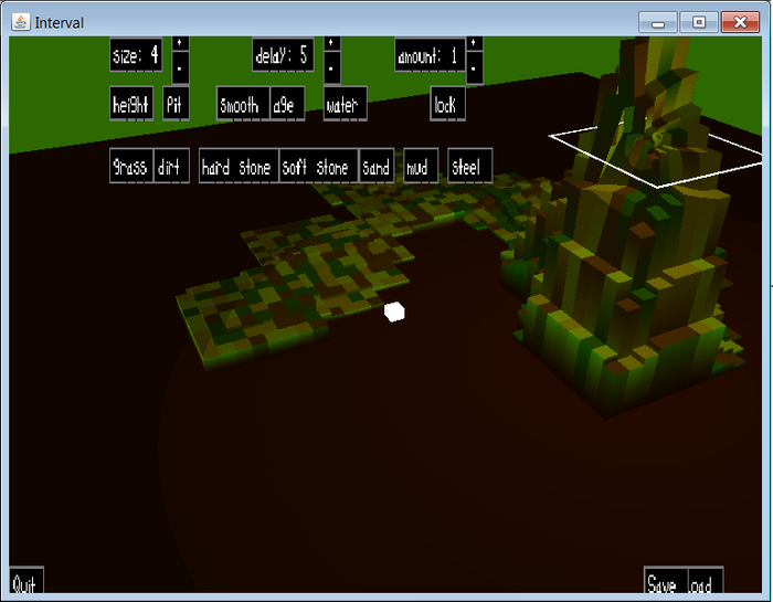 terrain editor for level creation