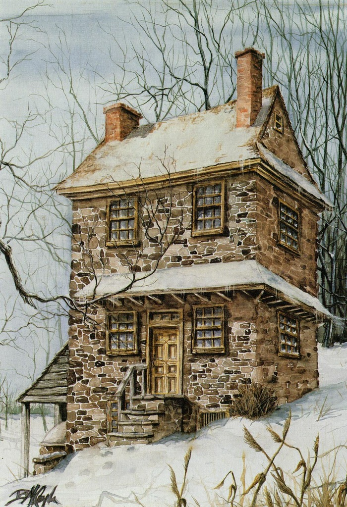 """John Chad House"" - lithograph 14""x18"""