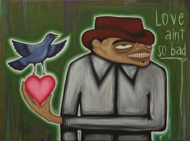 """""""Love Ain't So Bad"""" acrylic on canvas, 2012"""
