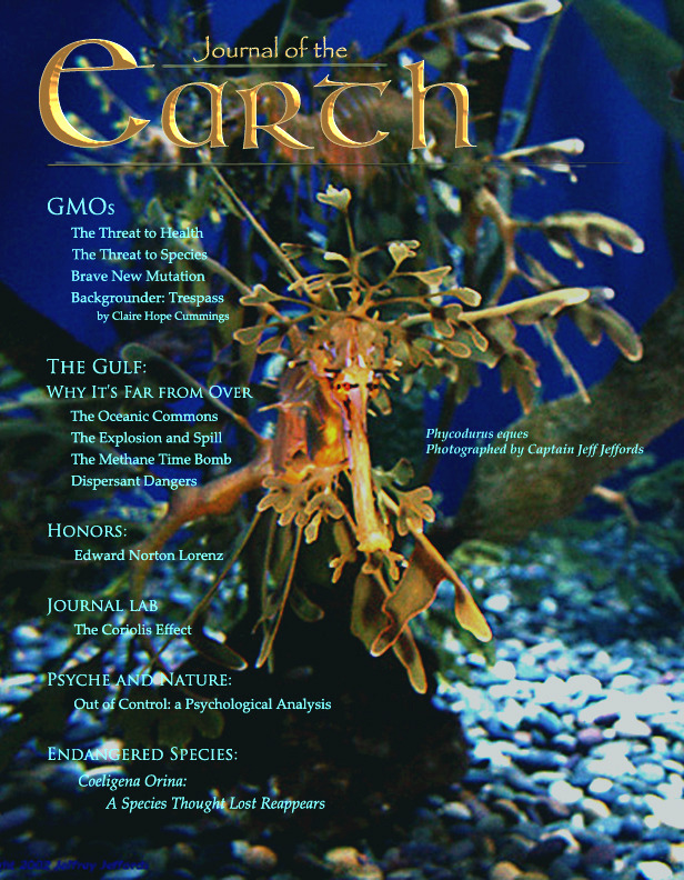 Draft Cover of Journal of the Earth's Inaugural Issue