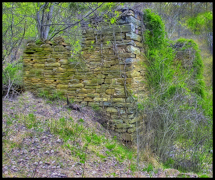 All that's left of the Chapman Mill....
