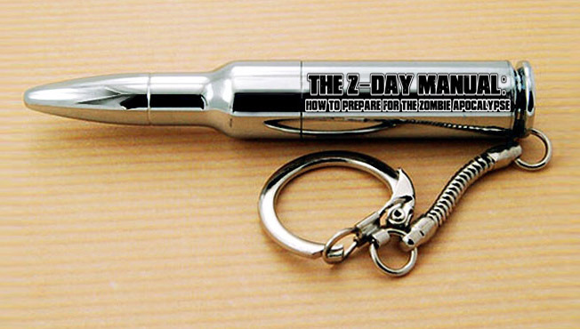 Special Edition The Z-DAY Manual Custom Bullet 8GB USB Drive w/ebook preloaded