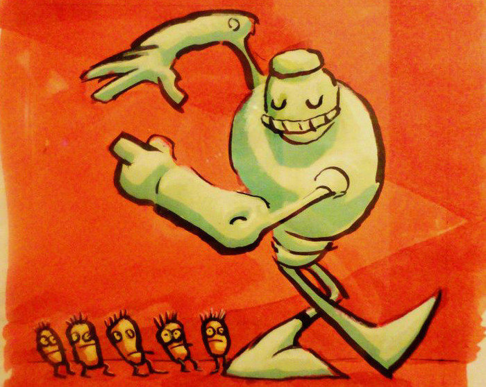 5 Iron Frenzy album cover by Doug TenNapel