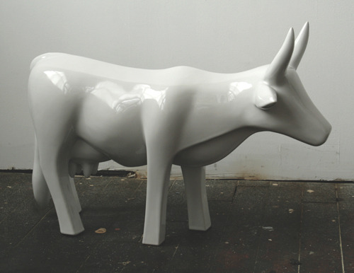 Cow, Industrial porcelain