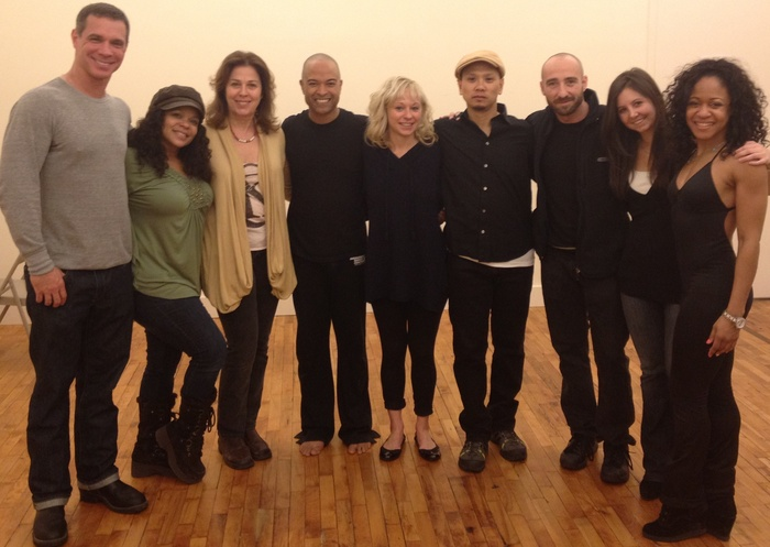 Original Creative Workshop in association with Amas Musical Theatre - March 2012 - From L to R: John O'Connor, Maria Torres, Donna Trinkoff, Shashi Balooja, Licia James-Zagar, Glen Cruz, Skizzo Freniko, Randi Kleiner & Alycia Perrin