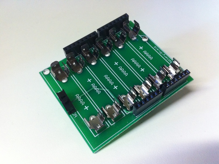 Chipkit arduino chipino style battery shield by chuck
