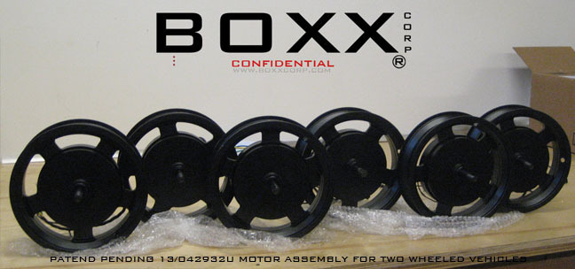 Prototype HUB 1.0 ® motor product by BOXX Corp.