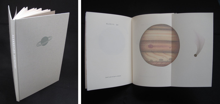 "Zach Stensen, Elementary Astronomy 6.5"" x 9"" designed, printed, and bound by the artist with handset metal type and stone lithograph illustrations"