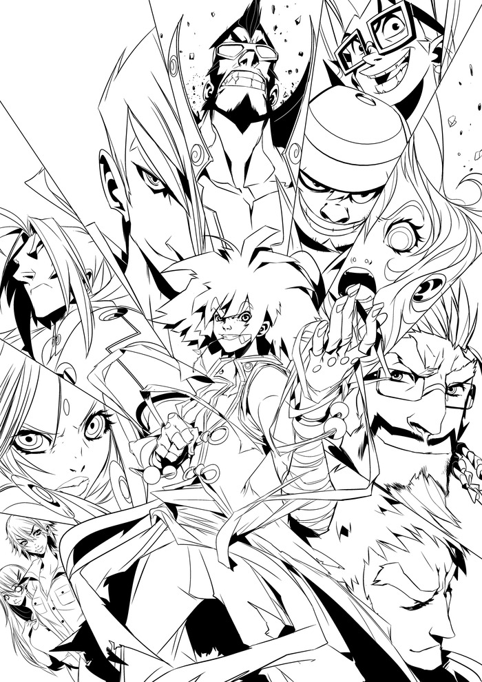 """KFS Issue 1 Cover"" Black and White Variant Cover"