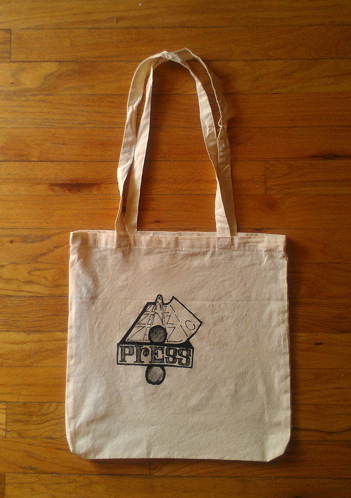 Silkscreened Zenzic Press tote bag