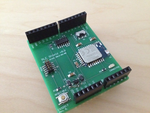 Arduino ble shield connecting the ios and