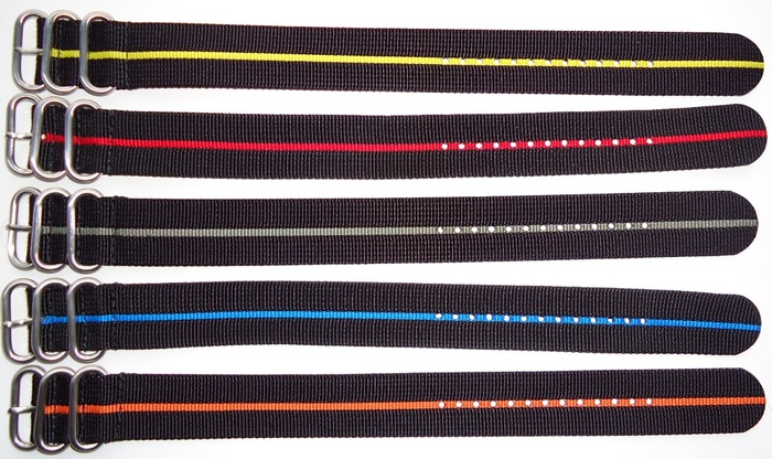 "10.5"" Black with Stripes available in: Yellow / Red / Grey / Blue / Orange"