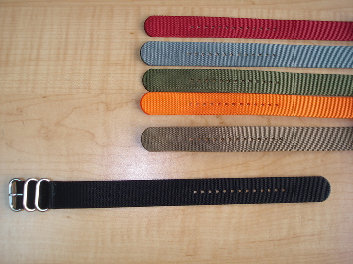 "10.5"" Solid Colored Strap available in: Red / Grey / Olive / Orange / Sand / Black"