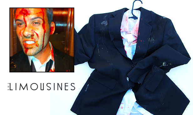 """Bloody"" suit jacket and shirt Eric wore in The Future music video"
