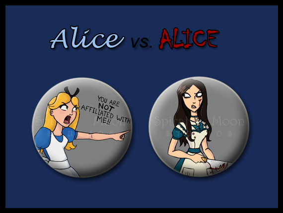 Alice vs. ALICE pin duo!