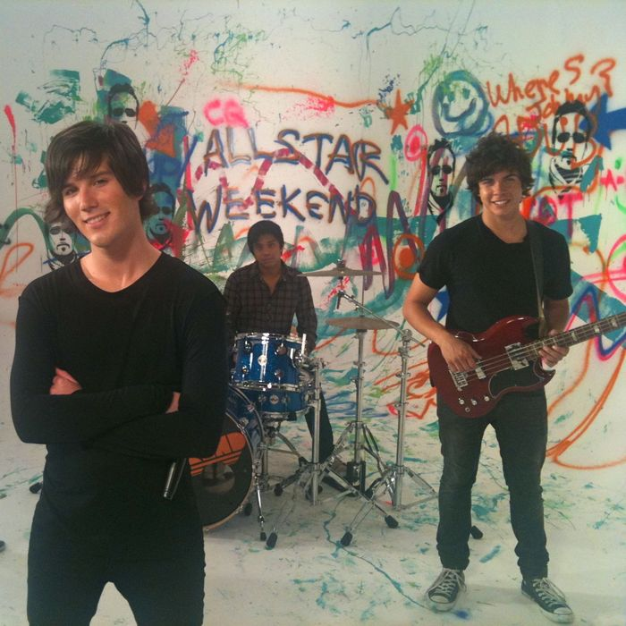 "Shooting the video for ""The Weekend"""