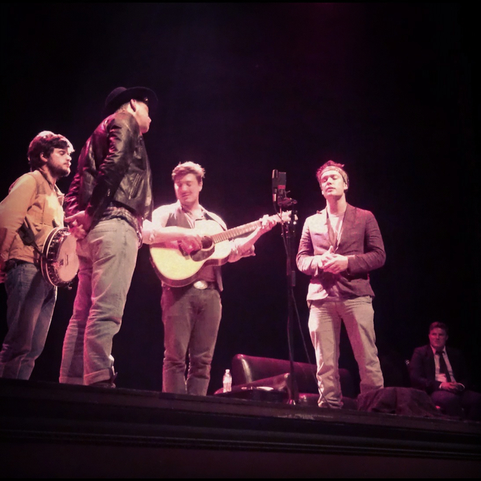 Mumford & Son's performing at their 'Salute to Steinbeck' event in Monterey, CA