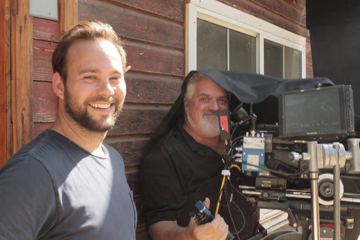 "Justin Kane, our 1st AC, and Maurizio ""Nino"" Dotto, our incredible Director of Photography. An amazing camera crew!"
