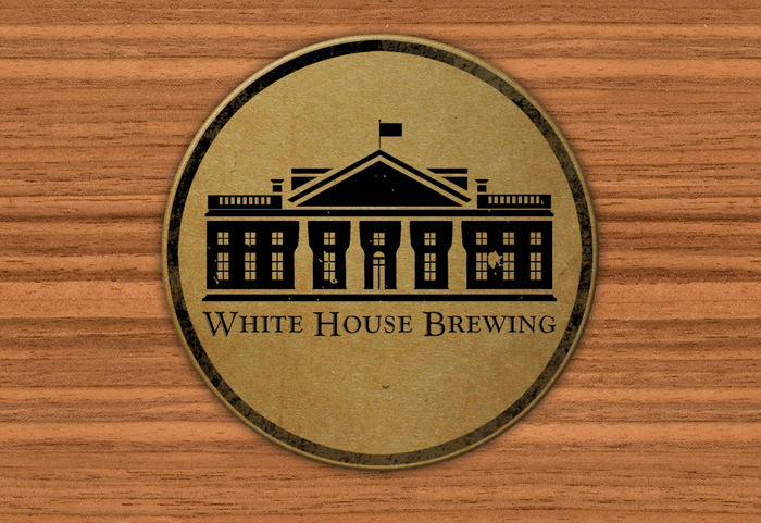 White House Brewing Coaster