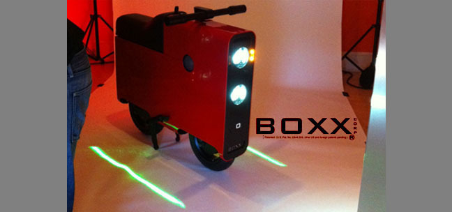 LightGuard ® virtual vehicle lane depiction by BOXX Corp.