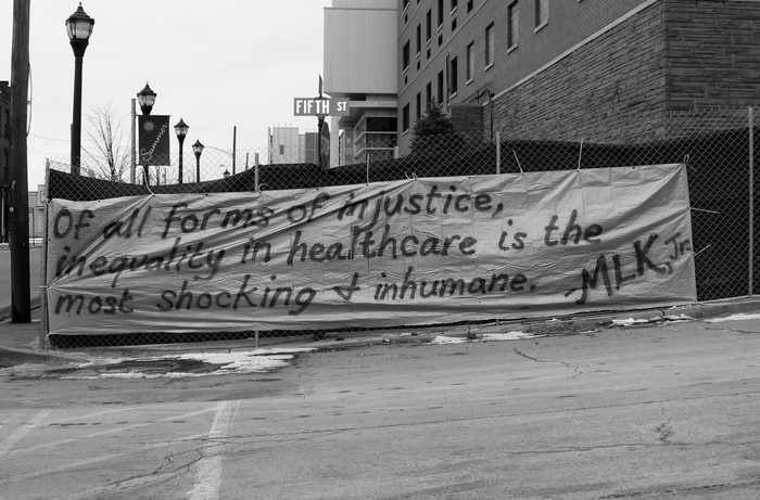 """Of all the forms of inequality, injustice in health care is the most shocking and inhumane.""    Martin Luther King Jr."
