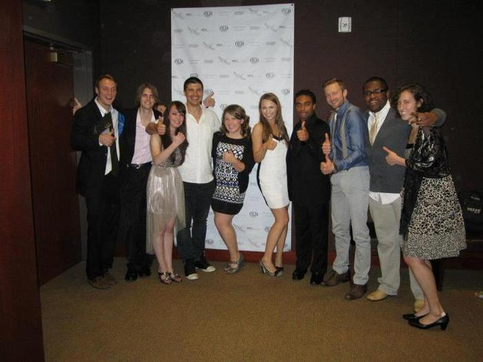 Cast and crew at screening
