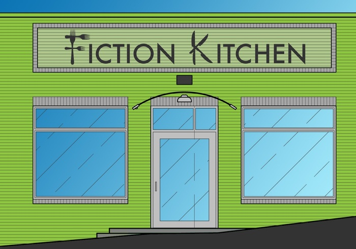 Our future restaurant, just a few months away! ; design by Andrew Osterlund, logo by Anne Rhodes