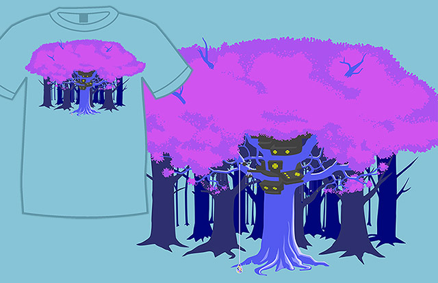 Terezi Canopy t-shirt, available in standard and ladies sizes
