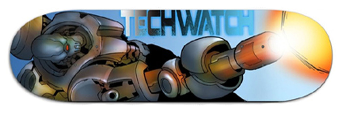 Tech Watch custom Skateboard decks.