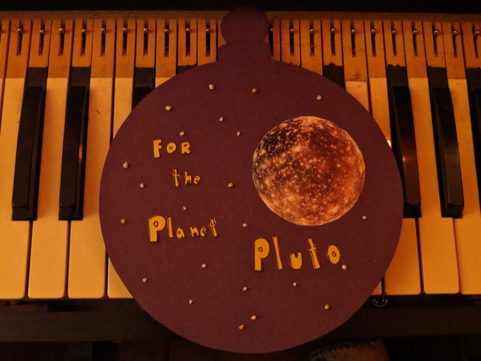 "New Reward - Just Added! ----- Limited Edition (of 20) Flexi-Picture-Disc Christmas Tree Ornament of ""For The Planet Pluto"" that actually plays on your record player!"