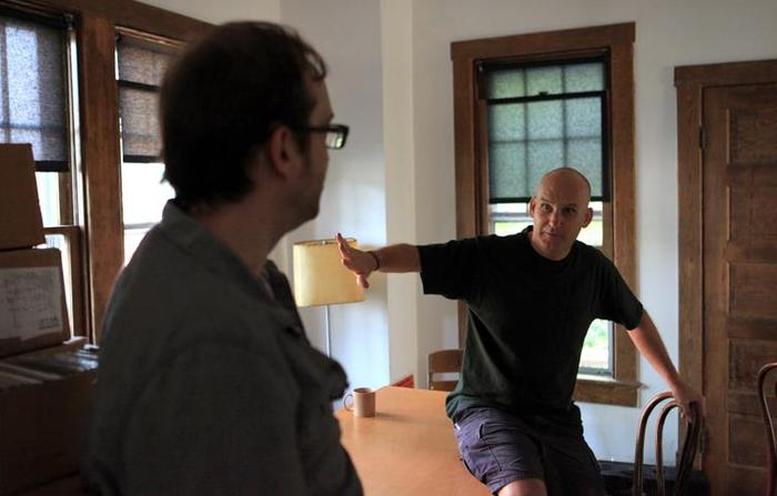 With Ian MacKaye during his interview for SALAD DAYS.