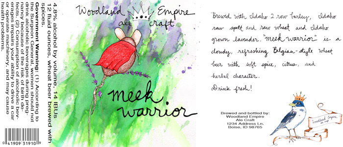 Meek Warrior- our Belgian-inspired witbier with locally grown lavender