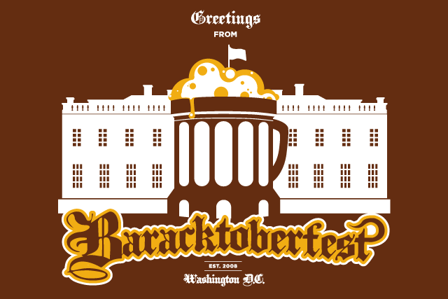 "The ""Greetings from Baracktoberfest"" Postcard"