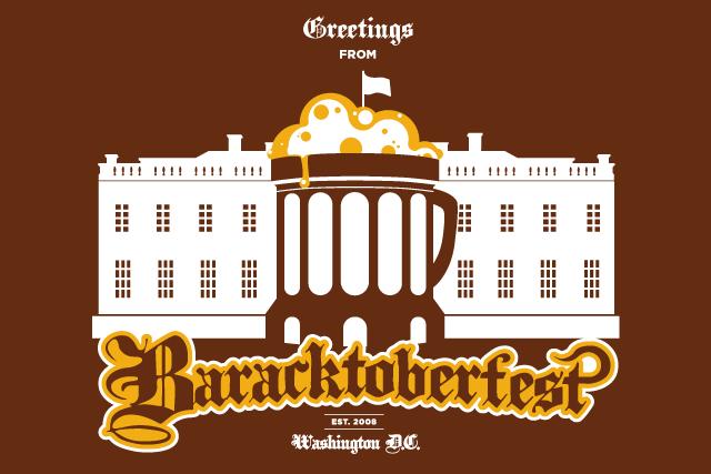 "The ""Greetings from Baracktoberfest"" Postcard"