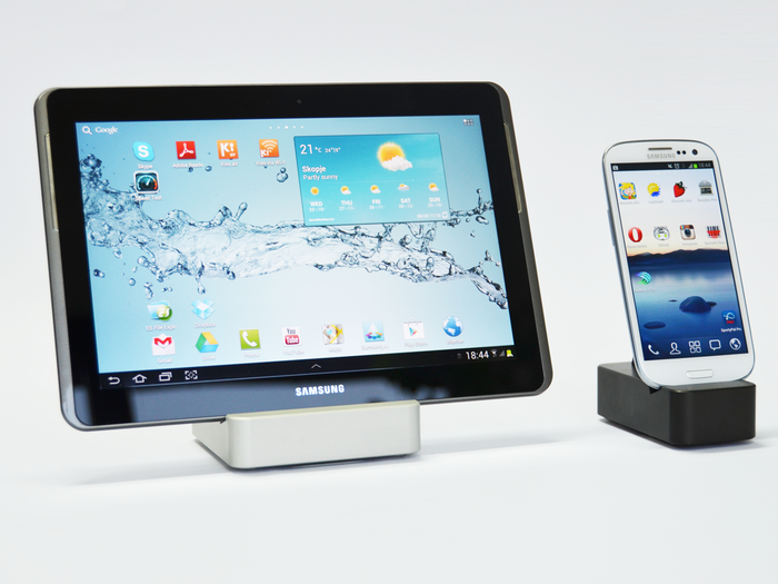 Samsung Galaxy Note 10.1 with Samsung Galaxy S3