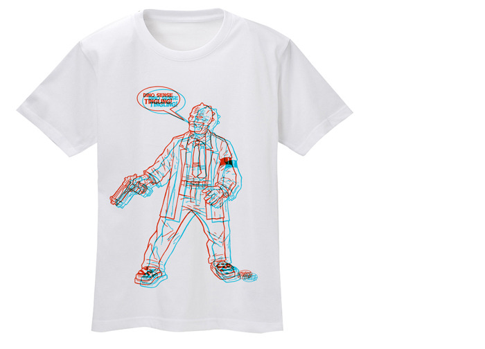 Awesome 3-D TEE with Shaky Kane art!