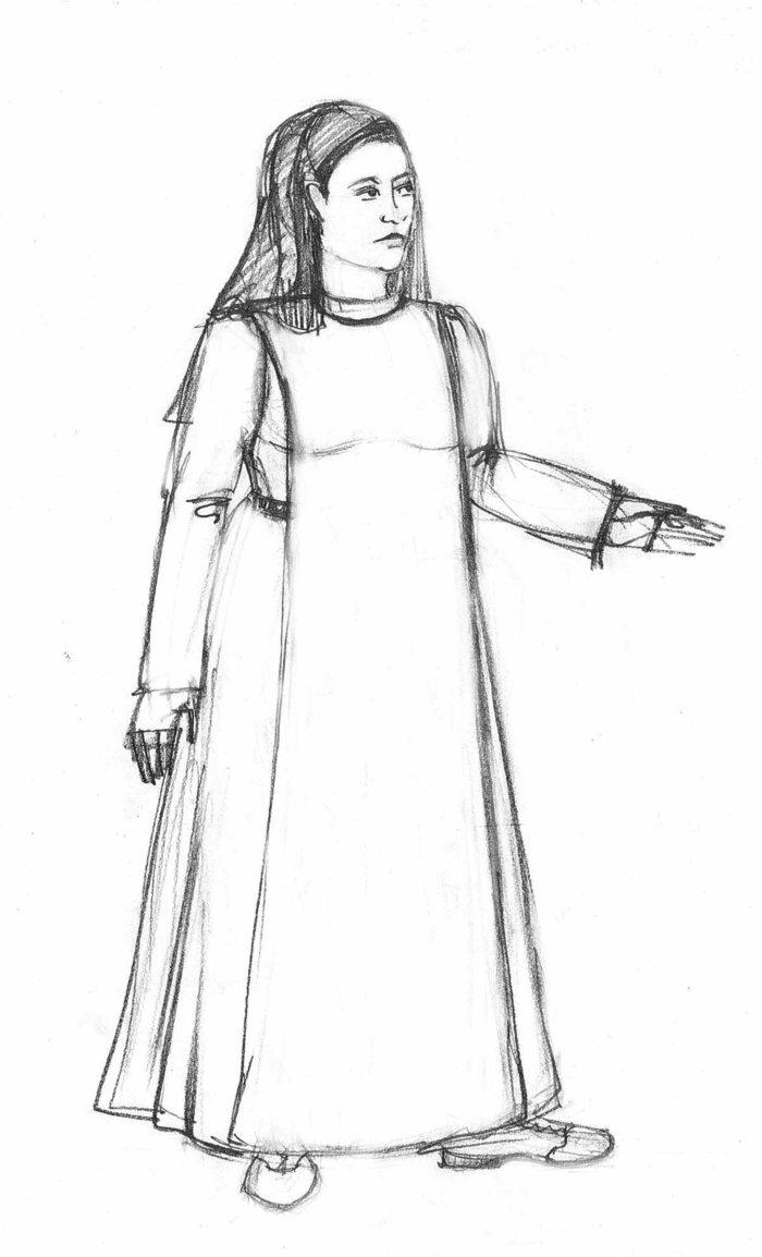 Maria Kizito Costume Sketch
