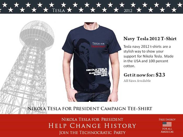Navy Blue Tesla 2012 T-Shirt