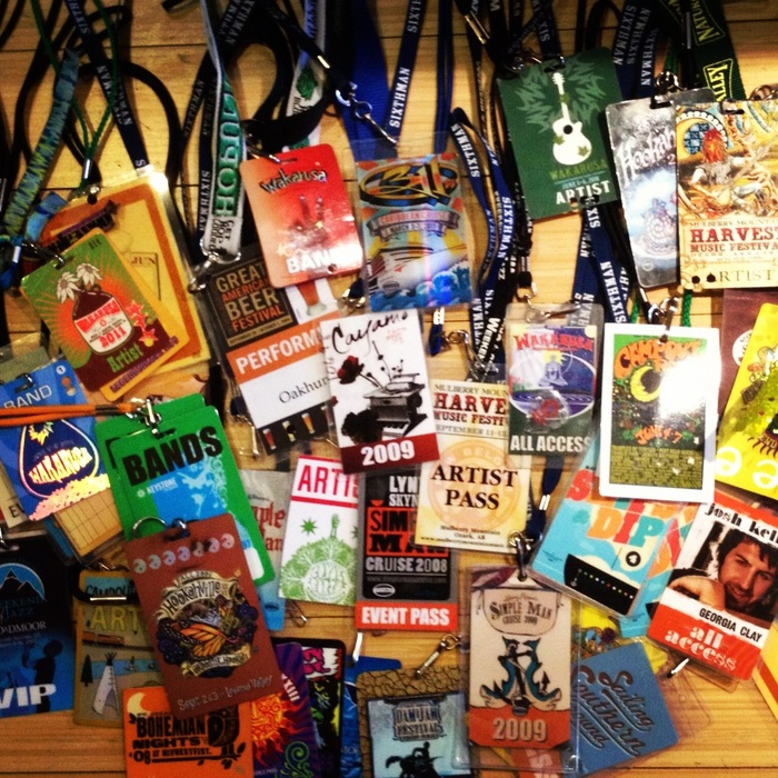 Artist/Tour Credentials!!! Autographed and personalized for you!!!