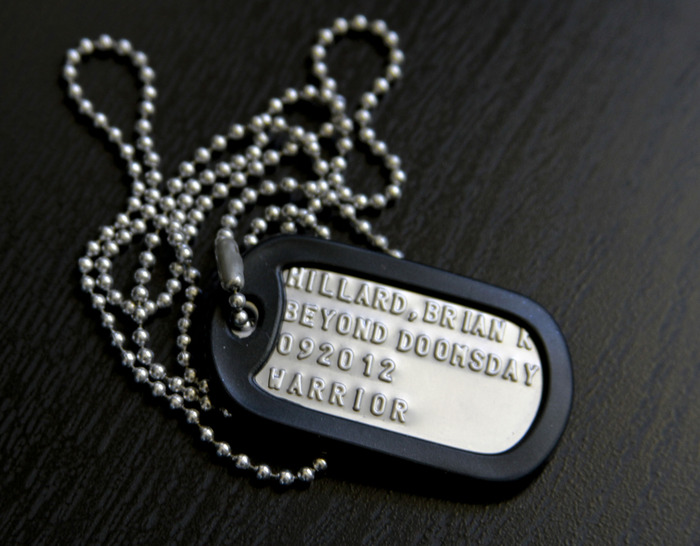 """Beyond DOOMSDAY"" Custom Dog Tags"