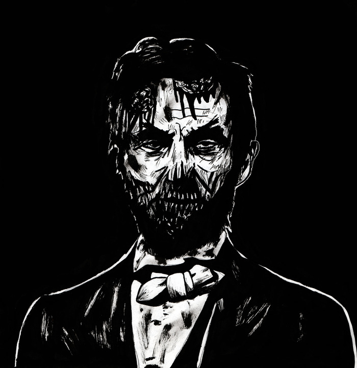 Zombie Lincoln Print For T-shirt